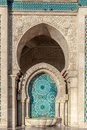 Hassan ii mosque casablanca morocco detail of of in typical mosaic Royalty Free Stock Photography