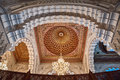 Hassan II Mosque interior vault Casablanca Morocco Stock Photos