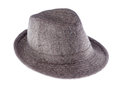 Hat with a brim isolated on white background side view Stock Images