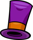 Hat clip art cartoon illustration of purple Royalty Free Stock Photography