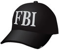 Hat fbi uniforms for the employee of the federal bureau of investigation a baseball cap vector illustration Royalty Free Stock Photo