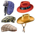 Hat golvny attire cap peak cap fashion crown felt skin Stock Photography