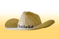 A hat isolate on white and yellow Royalty Free Stock Photos