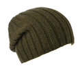 Hat isolated on white background .knitted hat .dark green hat Royalty Free Stock Photo