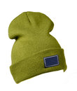 Hat isolated on white background .knitted hat . green hat Royalty Free Stock Photo