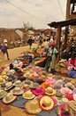 Hat market traditional in madagascar colorful and bright Royalty Free Stock Images