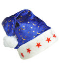 Hat Santa with ornament night sky Stock Photo