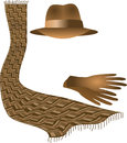 Hat scarf gloves Stock Image