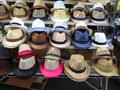 Mens hats for sale Royalty Free Stock Photo