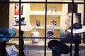 Hat store window display Royalty Free Stock Photo
