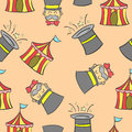 Hat and tent circus doodles