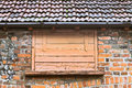 Hatch door a wooden in an old building Royalty Free Stock Photography