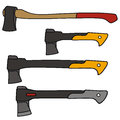 Hatchet vector drawing of the hatchets Royalty Free Stock Images