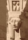 Hathor sculpture detail of a made of stone in egypt Royalty Free Stock Photography