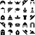 Hats icons Royalty Free Stock Photos
