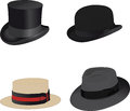 Hats for men Stock Images
