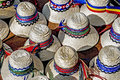 Hats for mens traditional romanian men from maramures area Royalty Free Stock Photo