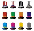 Hats set of multicolored vector format Royalty Free Stock Photos