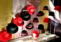 Hats a variety of shopping in milan italy Royalty Free Stock Images