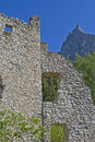 Hauenstein ruins in South Tyrol Stock Photos