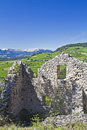 Hauenstein ruins in South Tyrol Royalty Free Stock Image