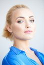 Haughty beautiful young blond woman Royalty Free Stock Photo