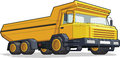 Haul truck construction truck a vector image of a isolated available as a vector in eps format that can be scaled to any size Royalty Free Stock Photo
