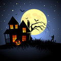 Haunted Halloween House Stock Image