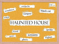 Haunted House Corkboard Word Concept Stock Photography