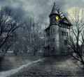 Haunted house halloween design with Royalty Free Stock Photo
