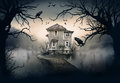 Haunted House on the Lake Royalty Free Stock Photo
