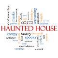 Haunted House Word Cloud Concept Royalty Free Stock Images