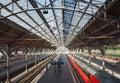 Hauptbahnhof central train station in Luebeck
