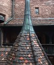 Haut koenigsbourg castle detail of the a historic located in a area named alsace in france Stock Images