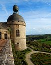 Hautefort renaissance castle prestigious chateau is located in perigord in the dordogne region of france it is classified as a Royalty Free Stock Image