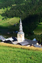 Hautekuce village in alps Stock Photography