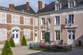 Hautvillers marne france the war memorial and hotel de ville town hall in commune village in the department in north eastern Royalty Free Stock Photography