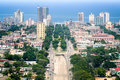 Havana aerial downtown pictured from jose marti s tower Royalty Free Stock Photo