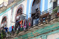 Havana balcone urban view of an old building and his balcony in old cuba Royalty Free Stock Photography
