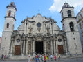Havana cathedral located in the plaza de la catedral the is found in the center of old the can be categorized as Royalty Free Stock Photos