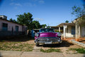 Havana cuba december classic american car park on st street in is known for the beauty of its vintage cars Royalty Free Stock Images