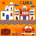 Havana Cuba poster vector