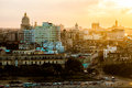 Havana (Habana) in sunset Royalty Free Stock Photo