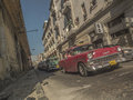 Havana old cars in the streets of cuba Royalty Free Stock Photos