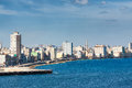The havana skyline facing the sea on a beautiful summer day Stock Photography