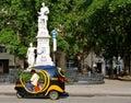 Havana transportation door cocotaxi Royalty-vrije Stock Foto's