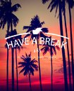 Have a break relaxation stop resting concept Royalty Free Stock Photos