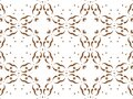 Geometric seamless background with shape abstract and kaleidoscope square repetition. Abstract white and brown gradient background