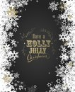 Have a Holly Jolly Christmas with lots of snowflakes Royalty Free Stock Photo