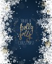 Have a holly jolly Christmas with many snowflakes Royalty Free Stock Photo